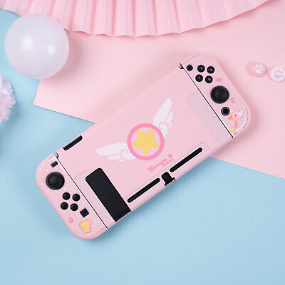 Card Captor Sakura Pink Cover For Nintend Switch NS Console Case Protector Anime