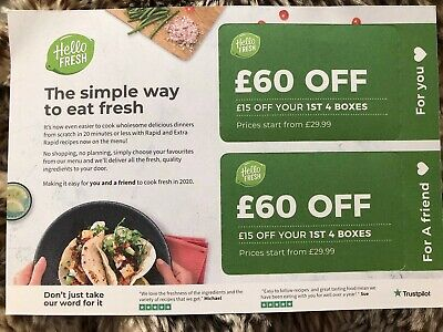 Hello fresh £60 Off Voucher For You And Friend