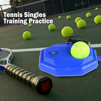 Singles Tennis Trainer Training Practice Ball Back Base Board Tools + Tennis