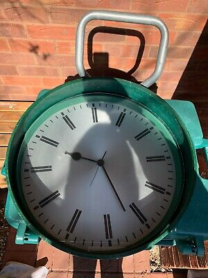 Large Military GENT of Leicester Quartz Wall Clock Mess Canteen Spares Or Repair