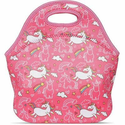 Juvale Unicorn Neoprene Insulated Lunch Tote Bag, 11 x 11 Inches