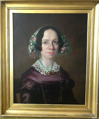 Stunning Antique Late Georgian / Victorian Portrait Painting - No Reserve
