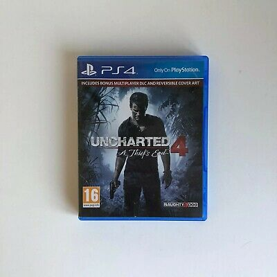 Uncharted 4 A Thief's End - PS4 - PlayStation 4- Includes Reversible Cover Art