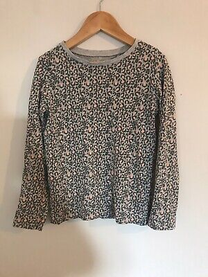 Girls Next Pink Grey Animal Leopard Print Long Sleeved Top Aged 7 Years