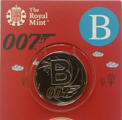 2018 UK Unc 10p coin A-Z series -Letter B James Bond 007 in Royal Mint gift card
