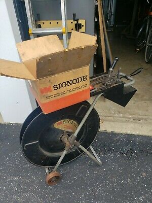 SIGNODE STRAPPING DF-7 Steel Bander. Crimp and Tensioner Tool with box of Seals