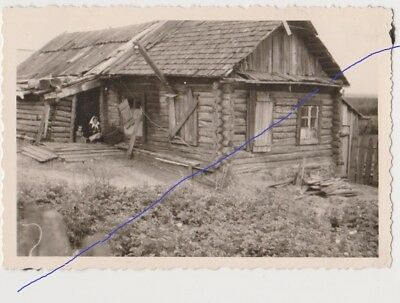 Traditional Russian Wooden House in time of World War II СССР Годы войны