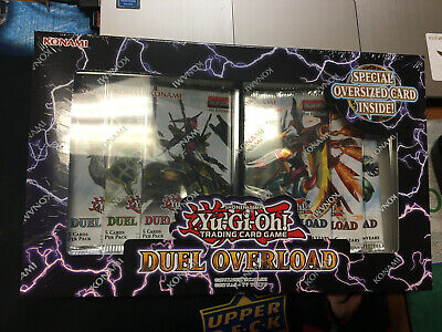 Yugioh TCG Duel Overload Box Set 1st Edition - 6 booster packs Factory Sealed