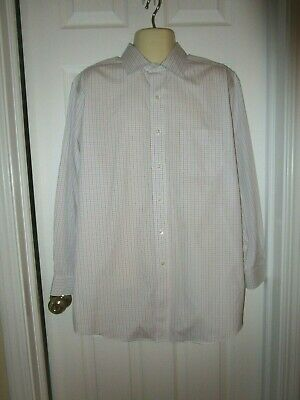 New Mens Brooks Brothers Madison Non Iron Polo Check Stretch Dress Shirt 16.5 33