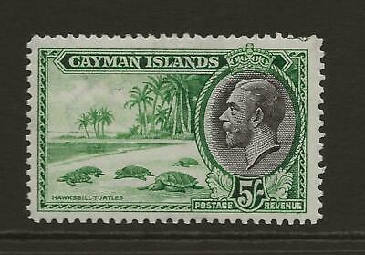 CAYMAN ISLANDS 1935 KGV SG106 5s Green and Black Fine MINT Cat £65