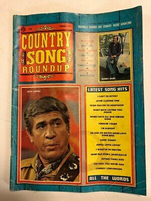 Country Song Roundup February 1971 Buck Owens Bobby Bare Kris Kristofferson Rare