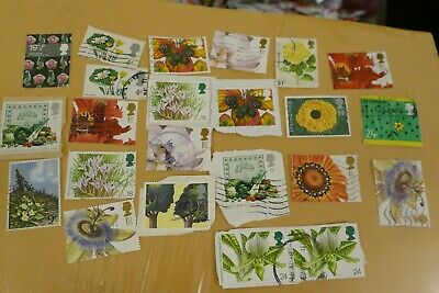 20 flowers & plants UK British commemorative postage stamps philatelic postal