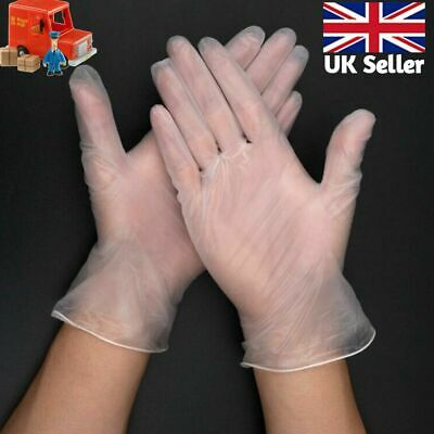 Clear Powdered Or Powder Free Vinyl Glove Disposable Medical Rubber XL Or Small