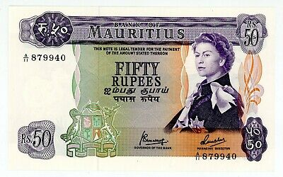 Mauritius .. P-33c .. 50 Rupees .. ND(1967) .. Choice *UNC*.