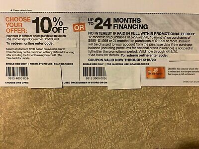 Home Depot coupon 10% off