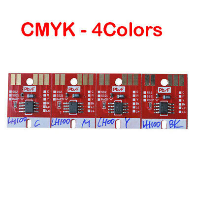 4Colors-CMYK Chip Permanent for Mimaki LH100-0659 UV Cartridge JFX-1615 UJF3042