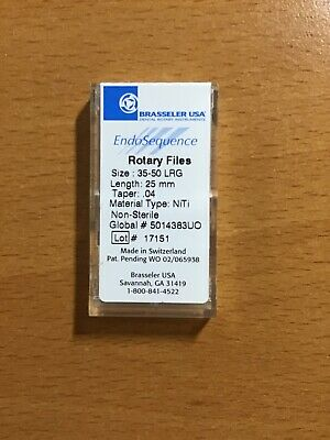 Packs of Brasseler Endosequence Rotary Files size LRG 35-50 taper .04 25mm.