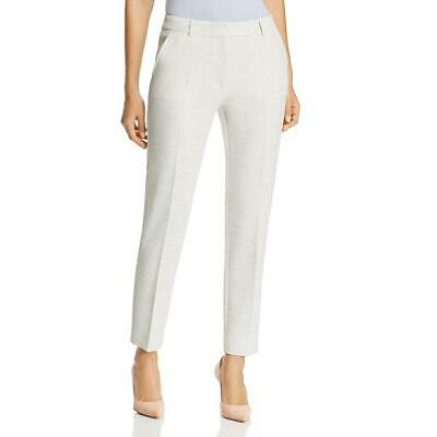 Hugo Boss Womens Ivory Slim Fit Textured Office Trouser Pants 14 BHFO 1235