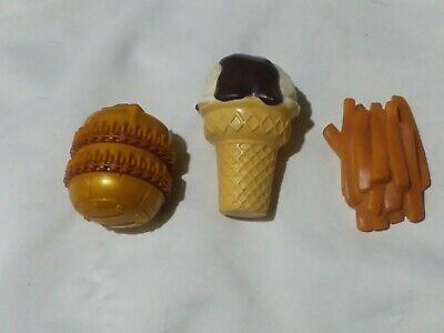 Lot of 3 Pretend Toys Mcdonalds Big Mac wheels French Fries and Ice Cream Cone