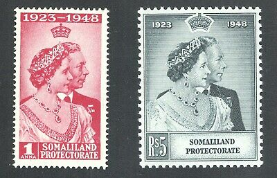 Somaliland British Protectorate Mint Silver Wedding Sc#110/111 SG#119/120 1948/9