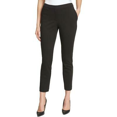 Tommy Hilfiger Womens Newport Black Slim Fit Office Ankle Pants 10 BHFO 4973