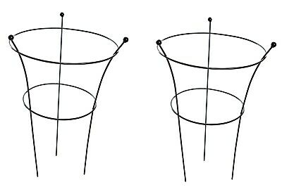 Metal Peony Garden Supports Herbaceous Plant Cone Frames 3 Legs Large Set of 2