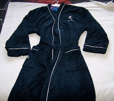 Carlton Blues AFL Mens Navy Blue Fleece Dressing Gown Robe One Size New
