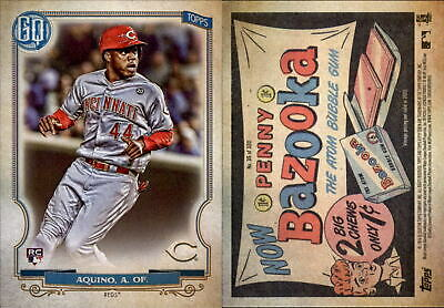 2020 Topps Gypsy Queen ARISTIDES AQUINO Bazooka Back Parallel Reds RC #35
