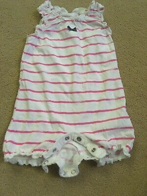 Mothercare Size Newborn Baby Girls White & Pink Playsuit