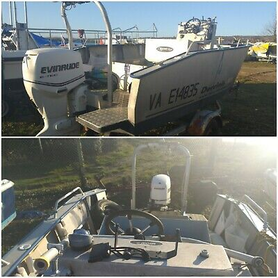 Aluminium Alloy Diving Fishing Offshore Power Boat - 90hp Outboard + Trailer