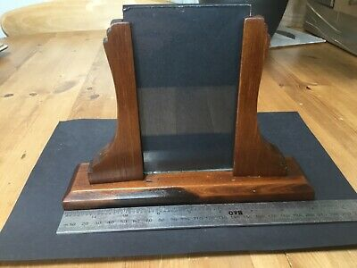 Vintage Art Deco Mahogany Picture Frame, Curved Supports , With Steps .