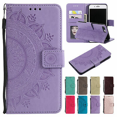 Flip Pattern Leather Wallet Stand Shockproof Case Cover For iPhone 6s 7 8 Plus X