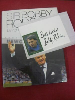 circa 1990's Bobby Robson: Autograph, A Hand Signed White Card (Postcard Size) &