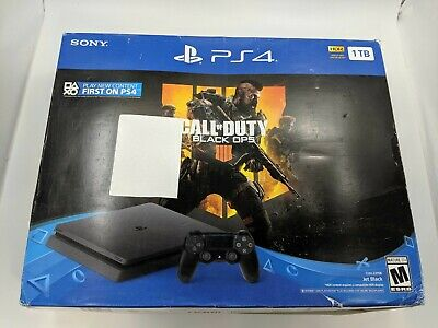 Open Box Sony PlayStation 4 PS4 Slim 1TB Call of Duty Black Ops 4 Bundle -DS2884