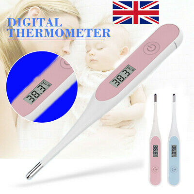 Digital LCD Medical Thermometer Mouth Underarm Adult Baby Body Temperature Sofe