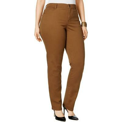 Style & Co. Womens Brown High Rise Tummy Control Pants Plus 24W BHFO 3057