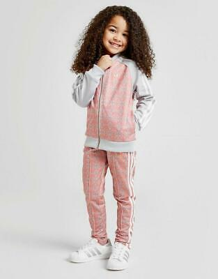 adidas Originals Girls' Geometric Superstar Tracksuit Children
