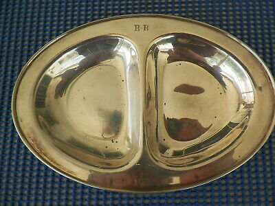 """Vntg. Whiting #2065 Sterling Silver 2 Section Youth Plate Mono""""Bb"""""""