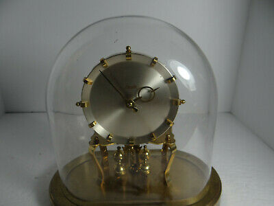 Kieninger & obergfell Kundo Brass Anniversary Clock with Key FOR PARTS OR REPAIR