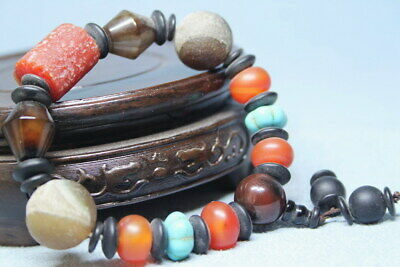 Exquisite Agate Polishing Natural Multicolored Beads Auspicious Hand Catenary