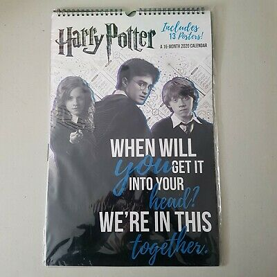 Harry Potter 2020 Hanging Calendar 16 month includes 13 Posters; New Sealed