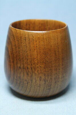 Collectable Handwork Auspicious Boxwood Carving Natural Texture Beautiful Cup