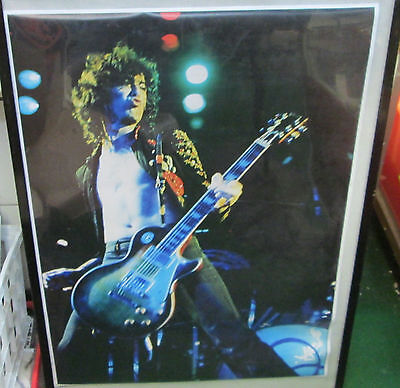 Jimmy Page Rare New Poster Mid 2000'S Vintage Collectable Led Zeppelin La 72
