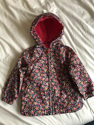 Mothercare Baby Girls Anorac / Raincoat. 12-18 Months. Hooded.  Pink & Flowery