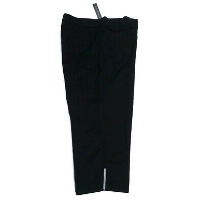 COUNTERPARTS Women's 16 Black Caged Leg Stretch Crop Capri Pant NWT $40