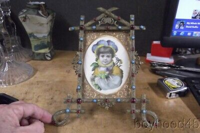 Fabulous Antique Victorian-Era Standing Picture Frame