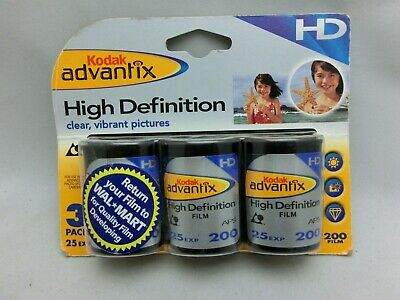 Kodak Advantix HD 200 Speed Film 25 Pics x 3 Rolls = 75 Exp 12/2005 FREE SHIP