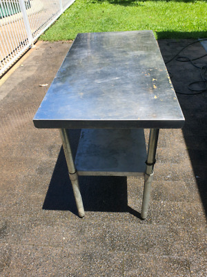 steel bench table work shop outside bbq table buff back to new little