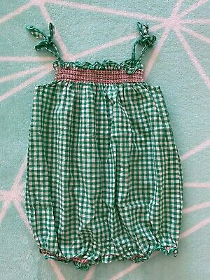 Seed Heritage Baby Girl Summer Gingham Romper Size 0