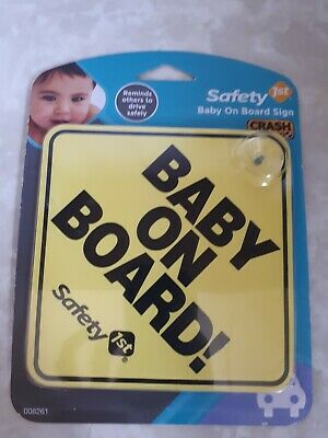 Baby on Board! Road Saftey car sign new in pack
